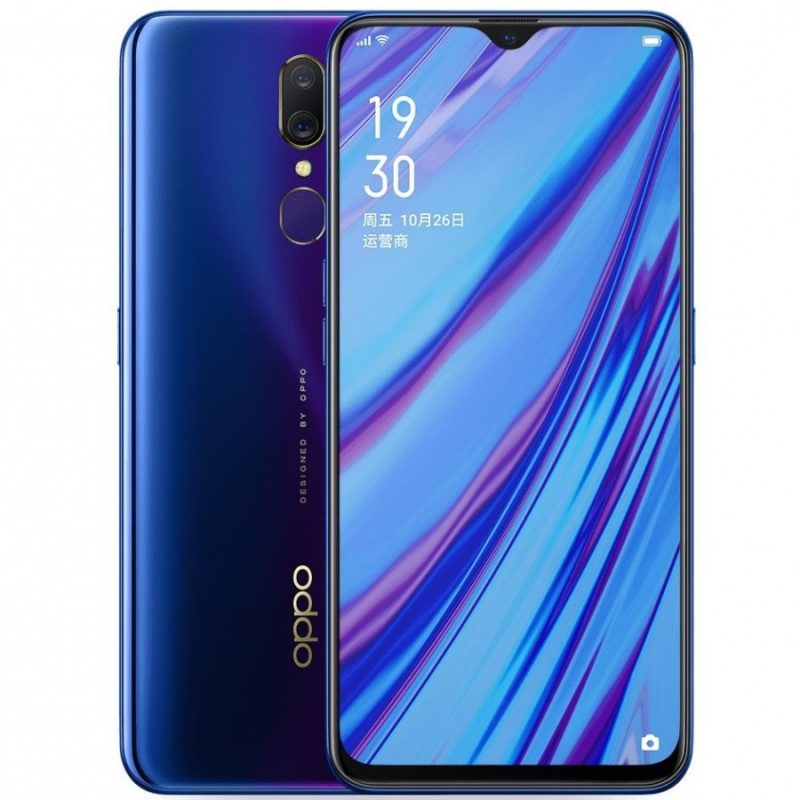 Oppo A9 Fluorite Purple colors