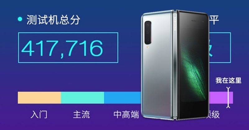 Samsung Galaxy Fold benchmarked by Master Lu