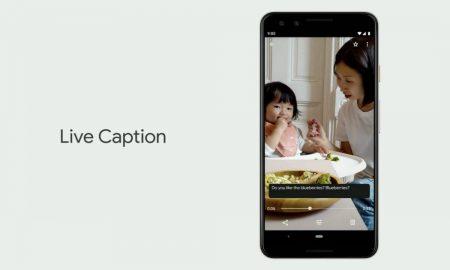 Google Android Live Caption Header