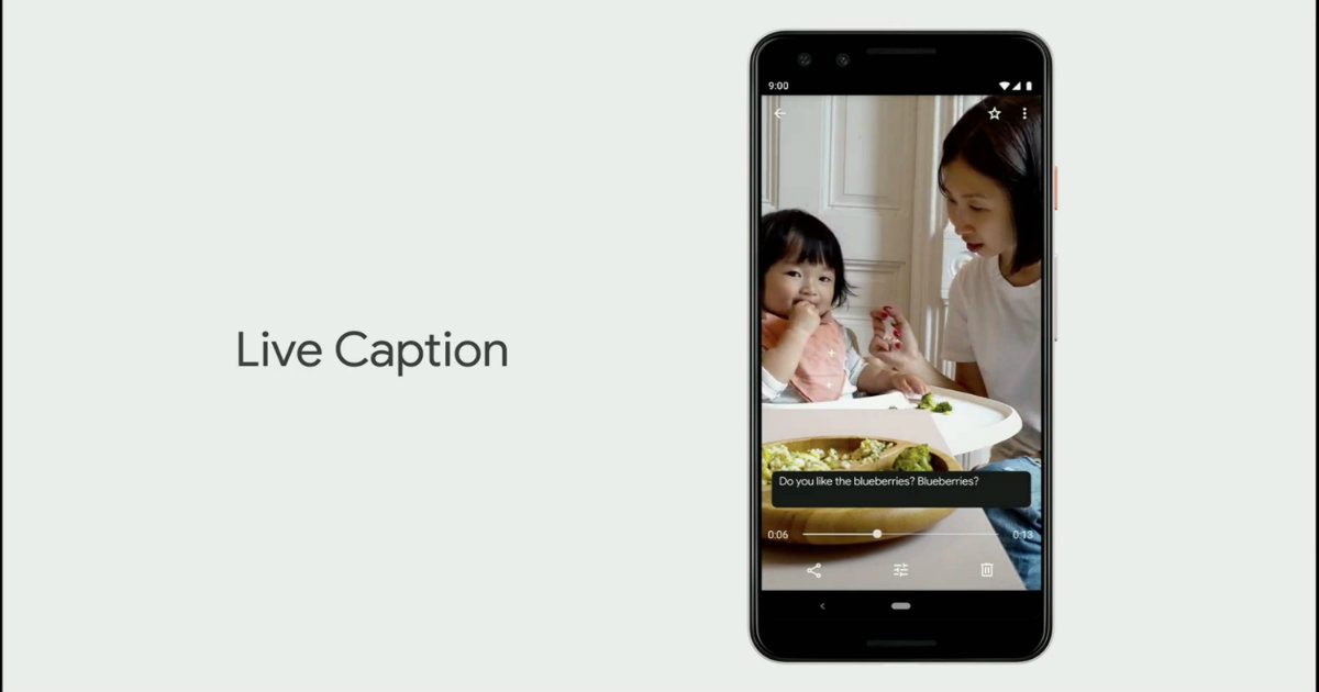Google Android Live Caption Header