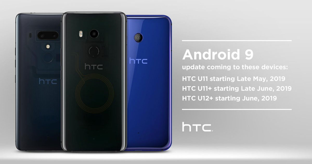 HTC Android 9 update plan