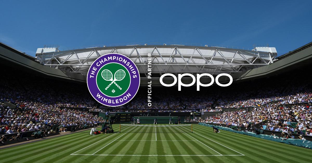 oppo official partner Wimbledon