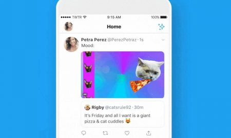 new feature twitter retweet with gif