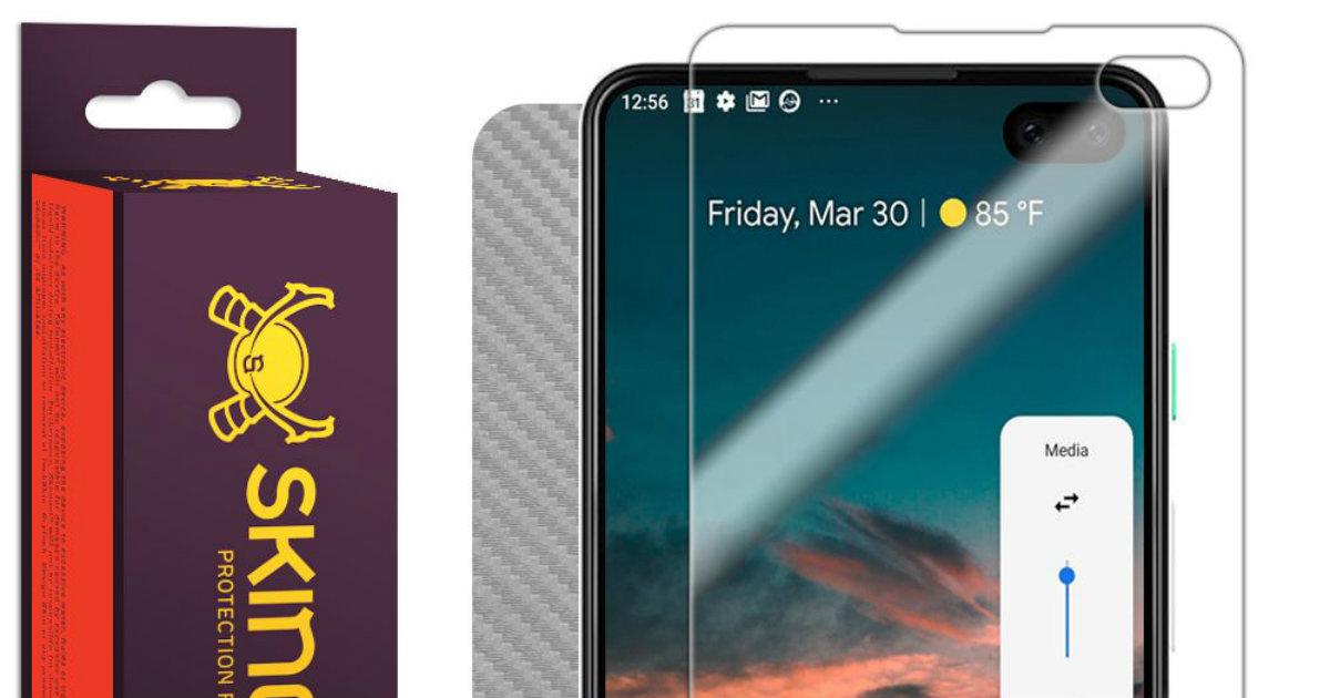 Pixel 4 screen cover header