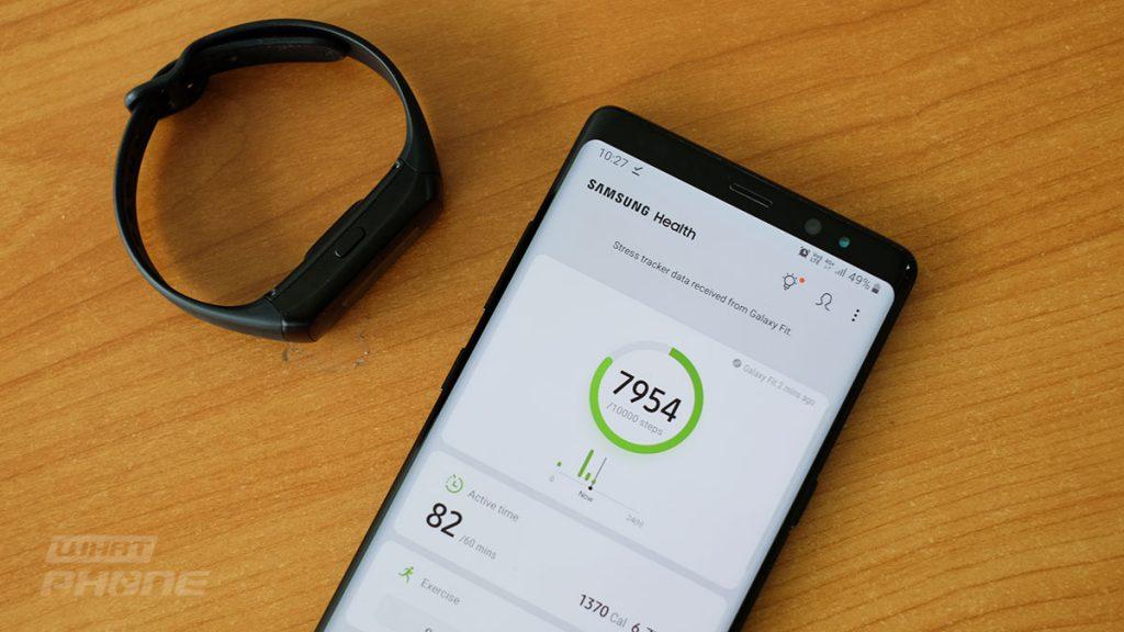 ดูข้อมูลเพื่อสุขภาพและการออกกำลังกายได้ที่ Samsung Health