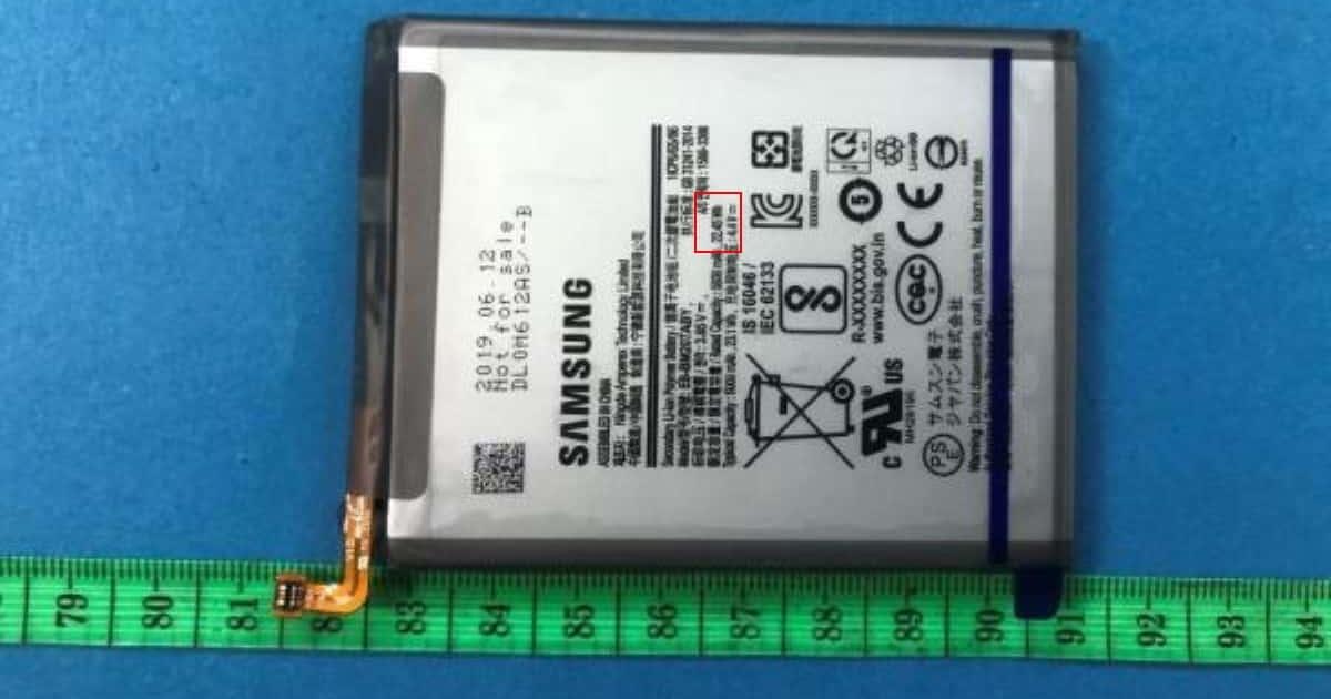 FI samsung smartphone battery 6000 mah