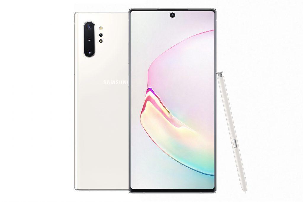 Note10+ สีขาว Aura White จะได้ชุดอุปกรณ์เป็นสีขาว