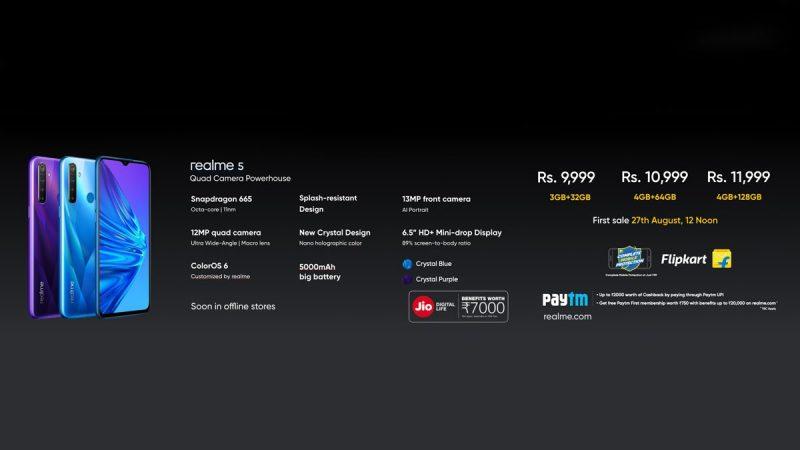 Realme 5 - India Price
