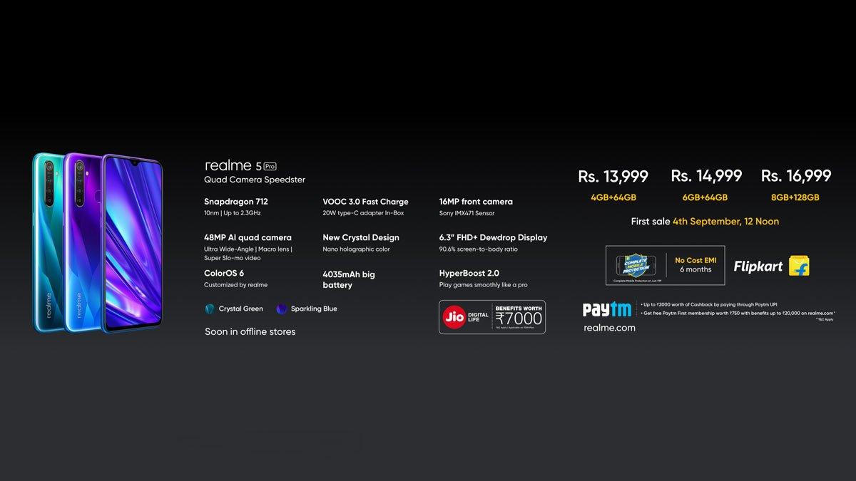 Realme 5 Pro – India Price