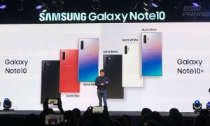 สีที่วางจำหน่ายในไทย Samsung Galaxy Note 10 และ Samsung Galaxy Note 10+