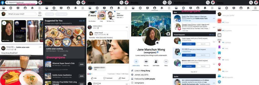 facebook dark mode for android app