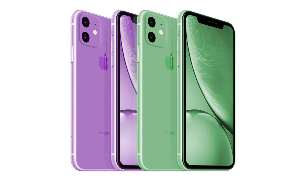 iPhone 11 Green and Lavender Color Concept