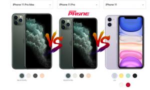 iPhone 11 Pro Max vs iPhone 11 Pro vs iPhone 11