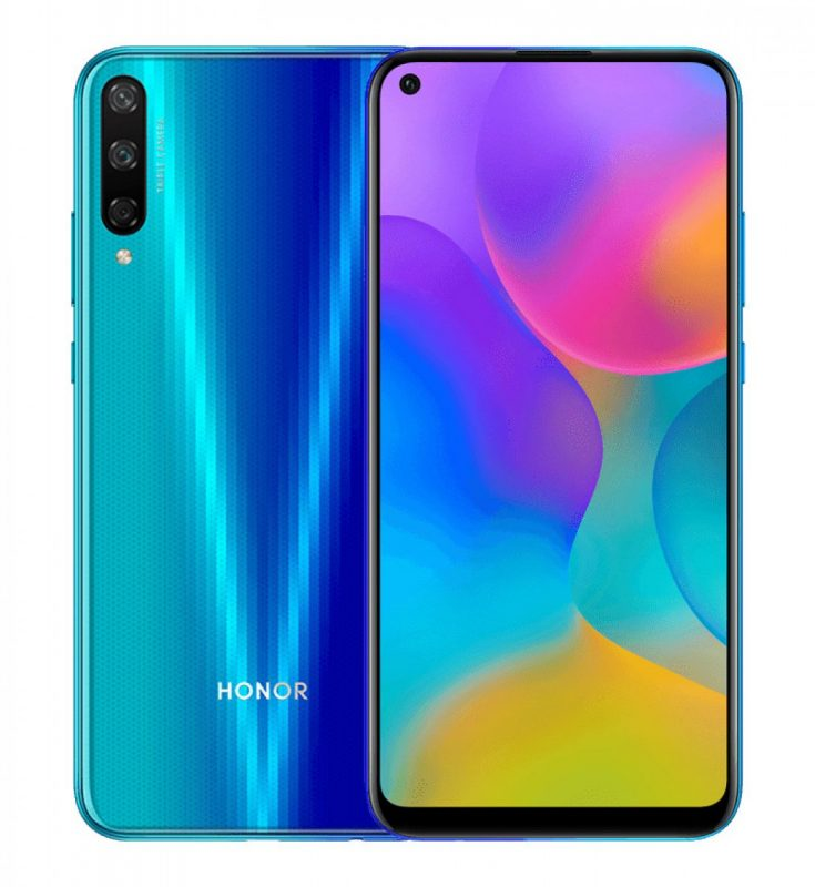 Honor Play 3 in Aurora Blue