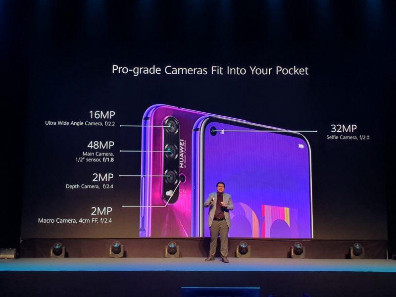 Huawei Nova 5T กล้องหลัง 4 ตัว