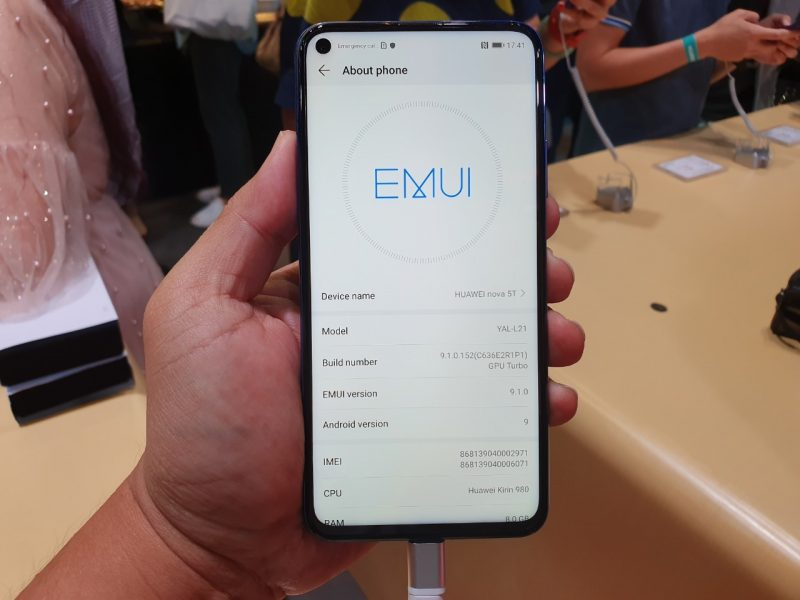 Huawei Nova 5T EMUI 9.1