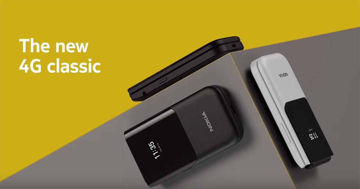Nokia 2720 Flip ฟีเจอร์โฟน 4G ฝาพับ เปิดให้จองแล้ว 2,790 บาท