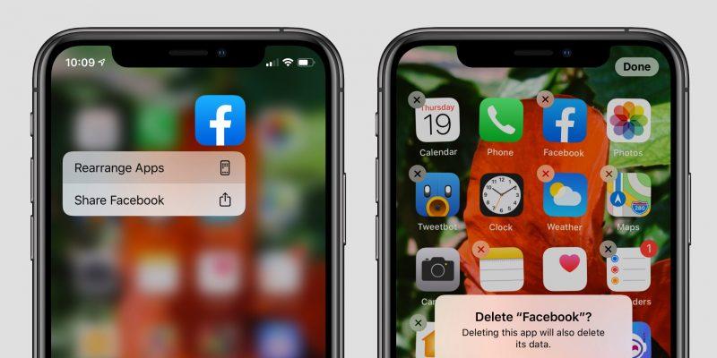 ลบแอพ iPhone 11