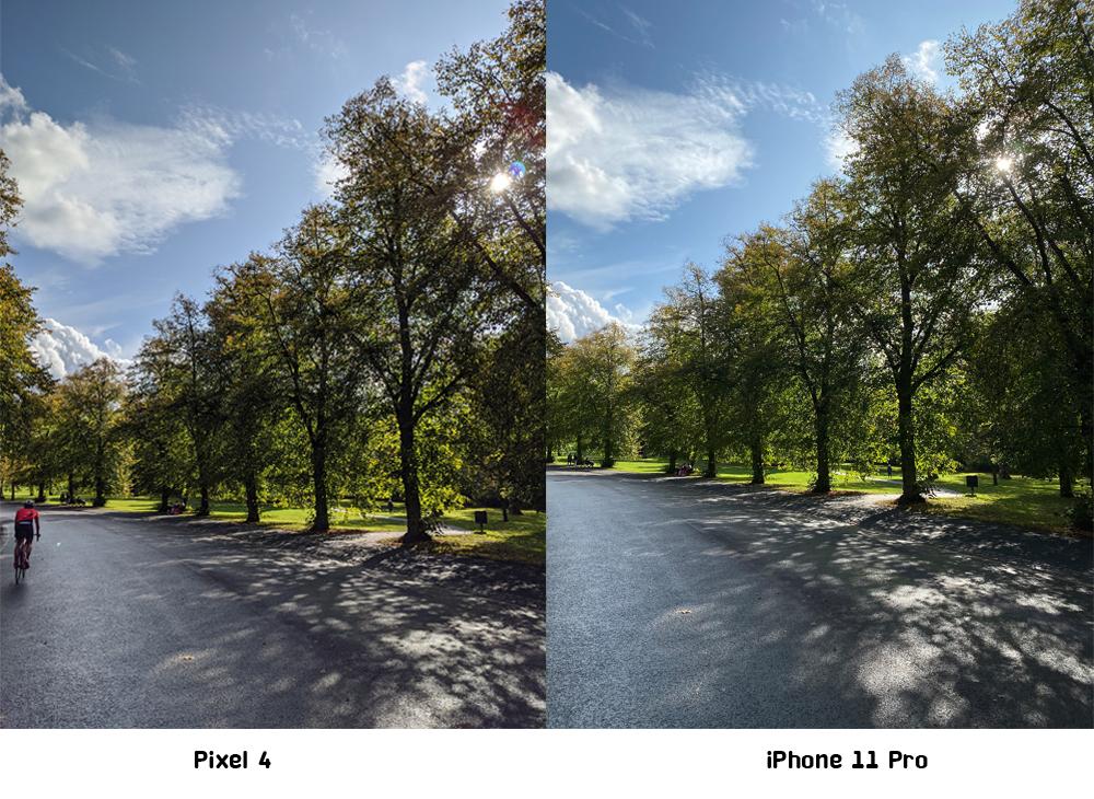 เปรียบเทียบภาพ Pixel 4 กับ iPhone 11 Pro