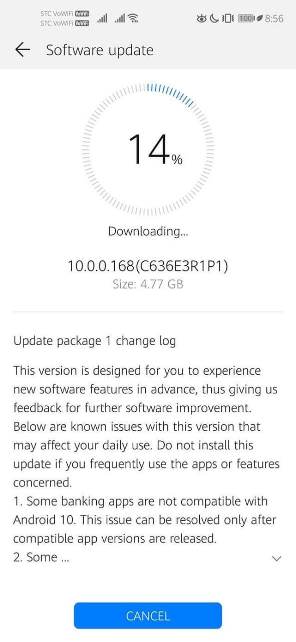 Huawei Nova 5T Android 10 Update