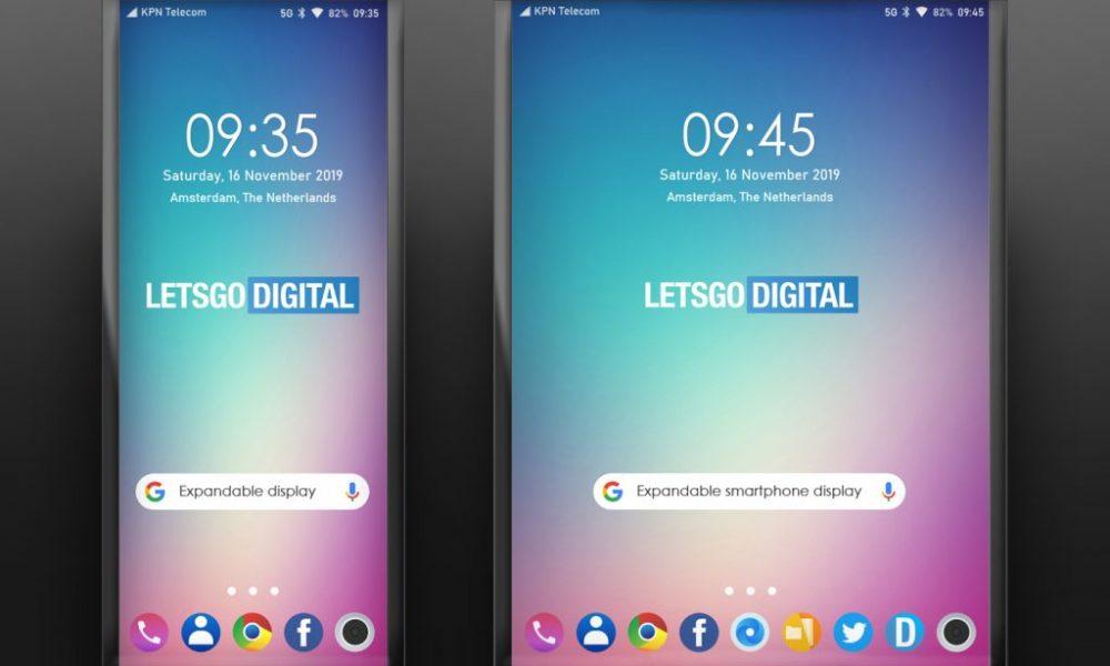 LG patents an expanding phone folding display
