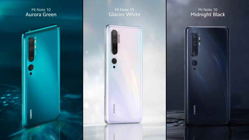 Xiaomi Mi Note 10 Colors