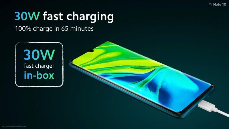 Xiaomi Mi Note 10 Fast Charging