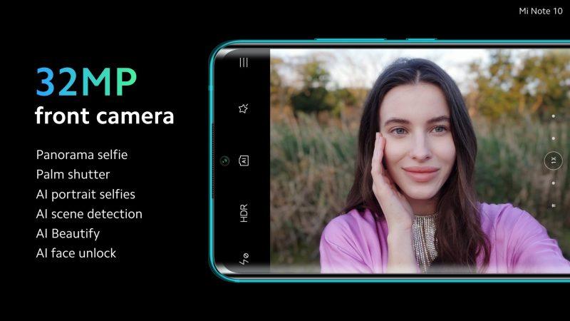 Xiaomi Mi Note 10 Front Camera