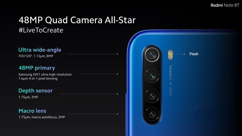 Xiaomi Redmi Note 8T Camera