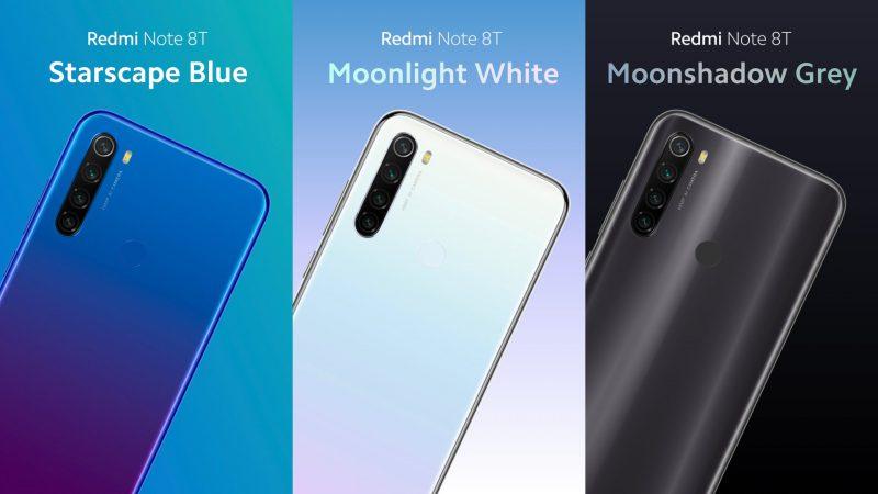 Xiaomi Redmi Note 8T colors