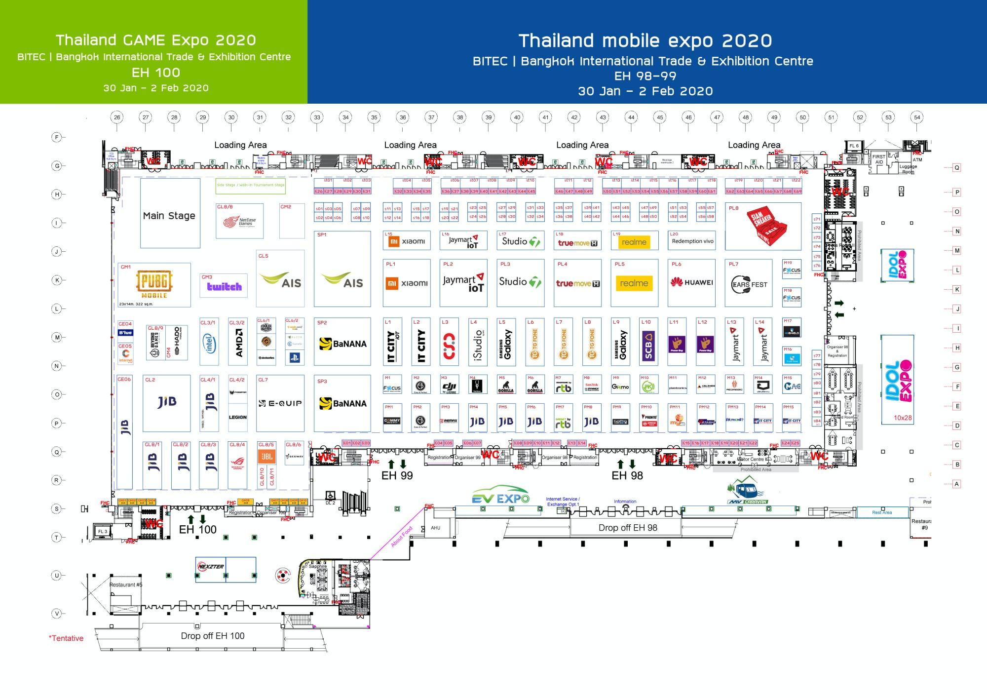 Floorplan Thailand Mobile Expo 2020 jan 30 - feb 2