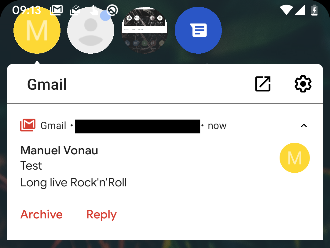 Android 11 Bubble Notification