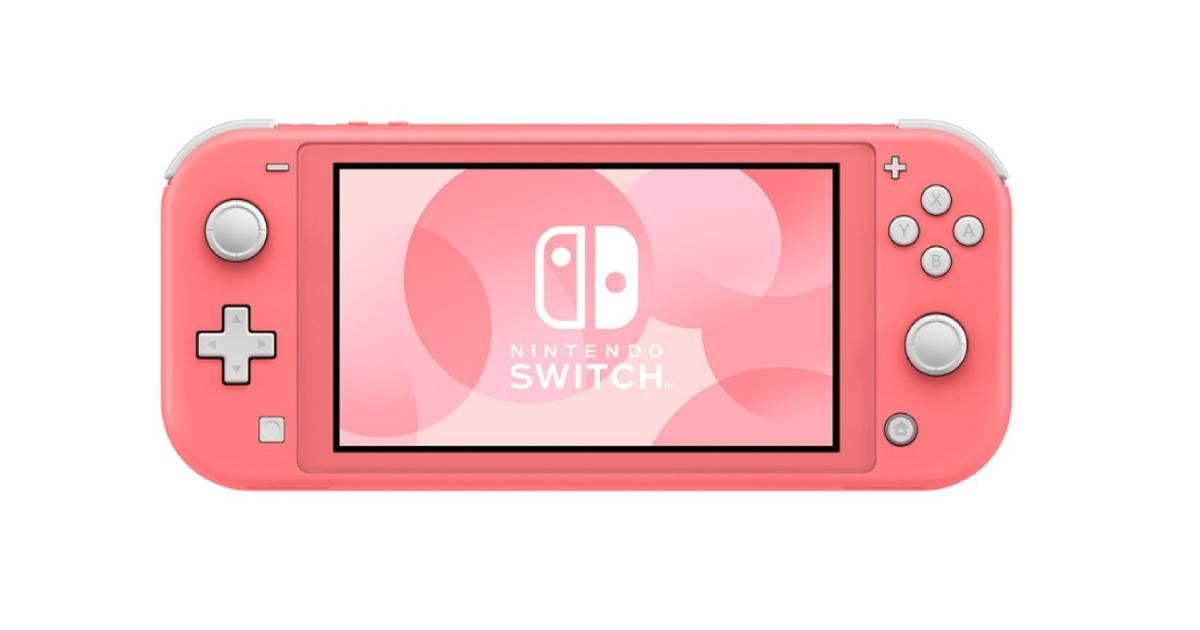 Coral Nintendo Switch Lite Header