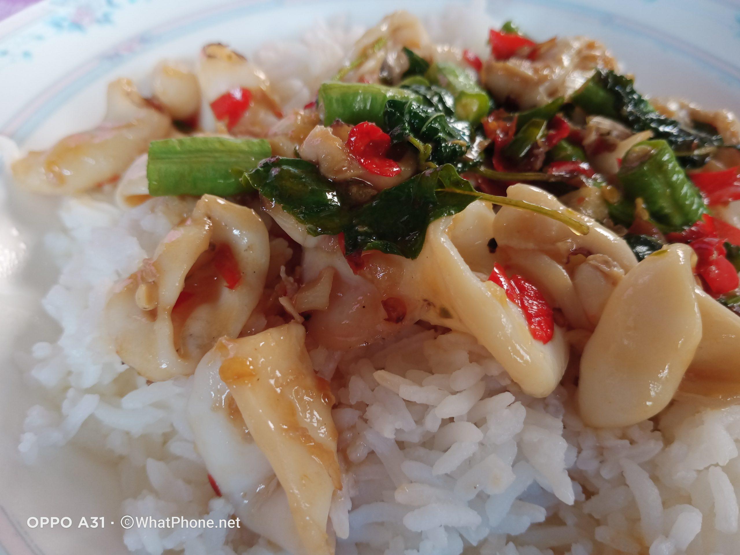ตัวอย่างภาพถ่ายจาก OPPO A31 food 03