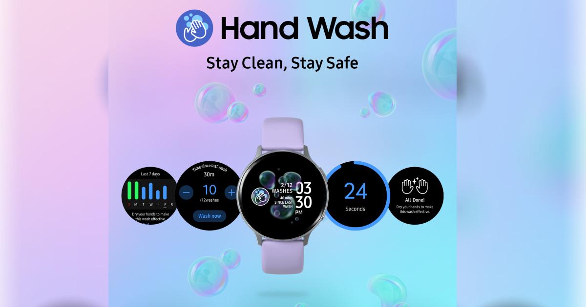 Samsung Galaxy Watch App Hand Wash