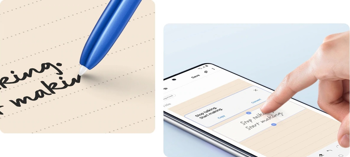 Galaxy Note 10Lite Handwriting into text