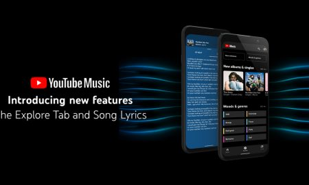 youtube musice gets new expolore tap and song lyrics