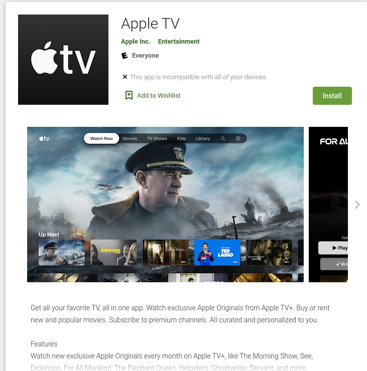 Apple TV on Play Store