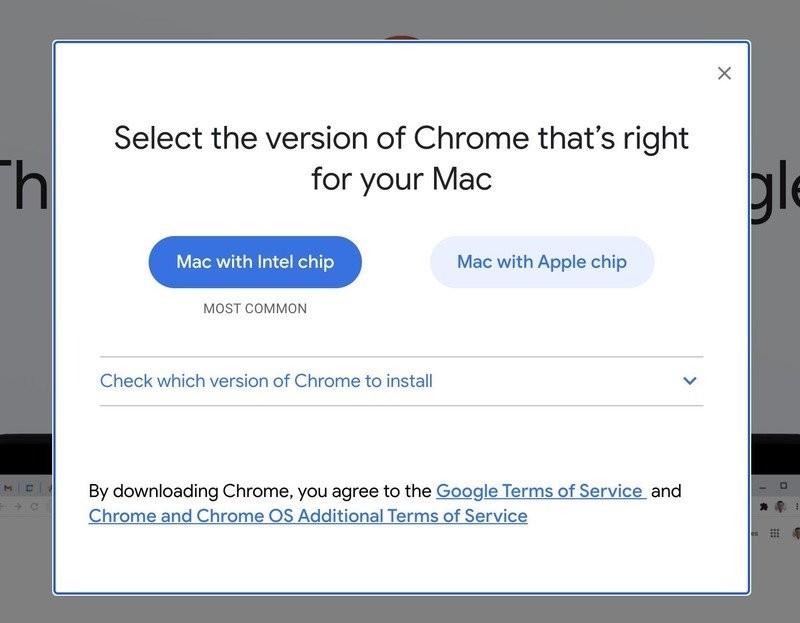 Chrome for Apple Silicon Mac
