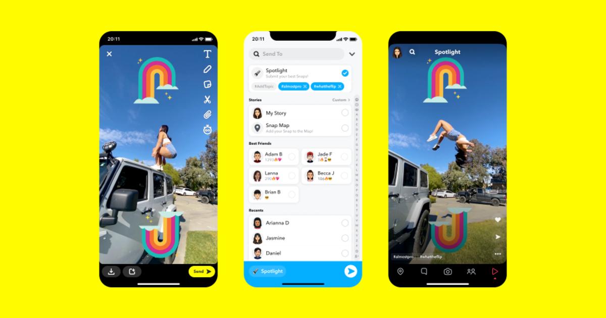 Snapchat Spotlight Header
