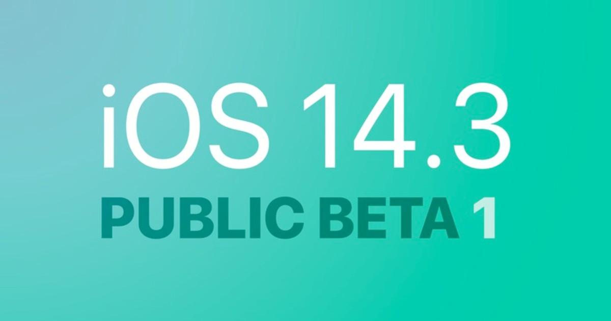 iOS 14.3 Public Beta 1 Header