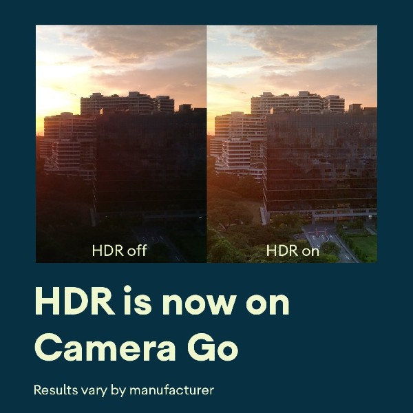 Camera Go HDR Enable