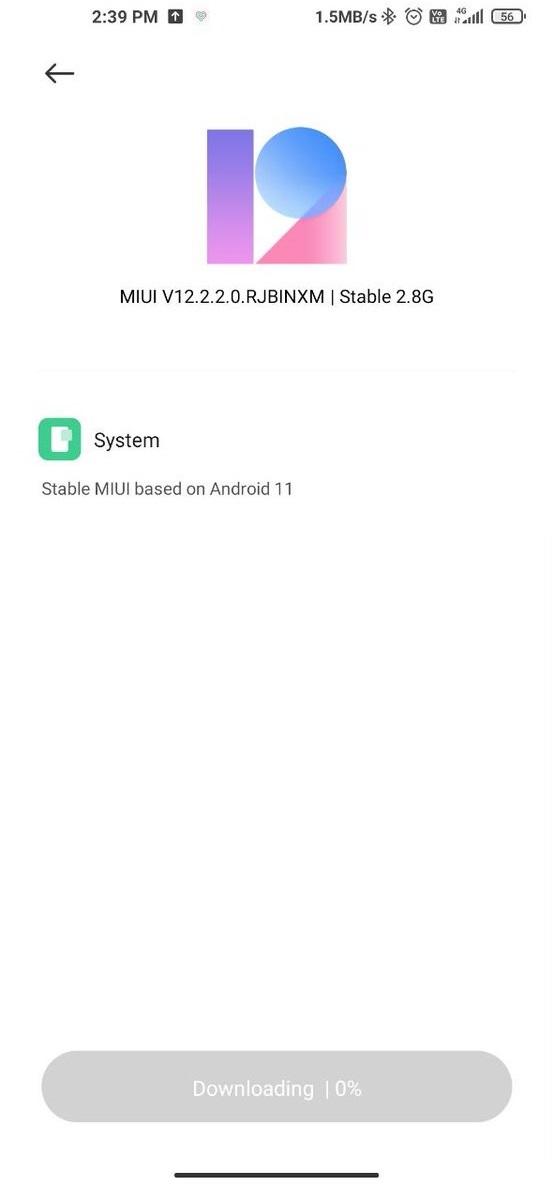 Xiaomi Mi 10 MIUI 12 Android 11