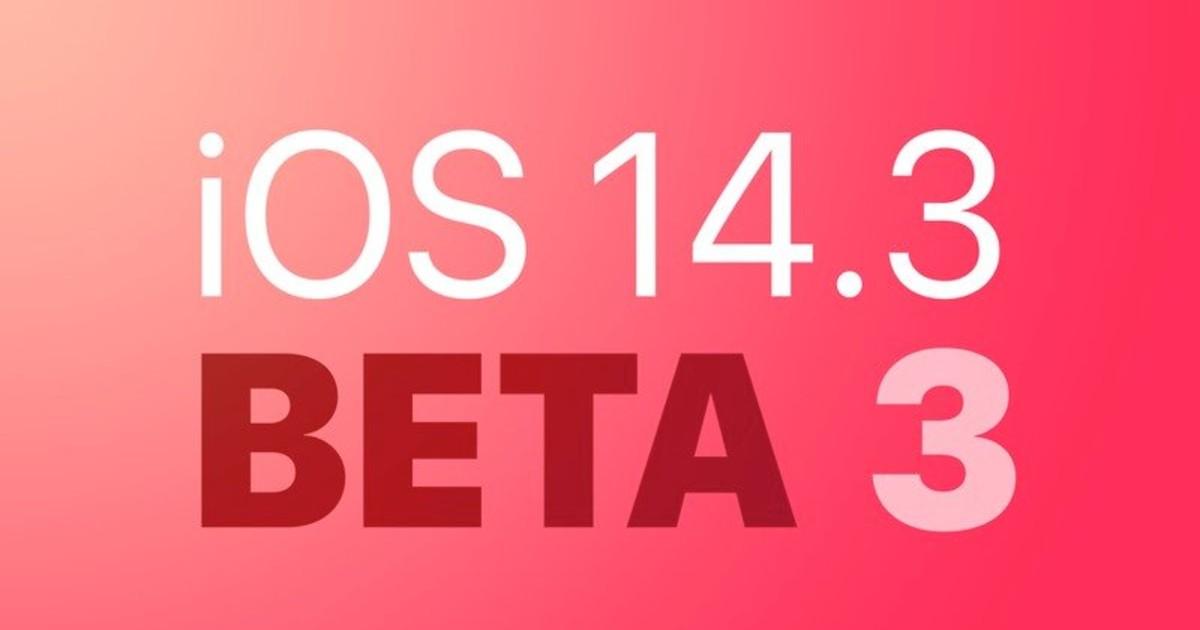 iOS 14.3 Beta 3 Header