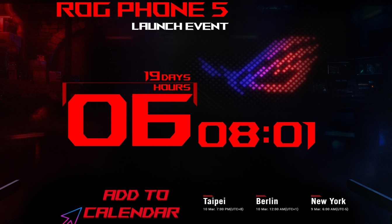 ASUS ROG PHONE 5 event