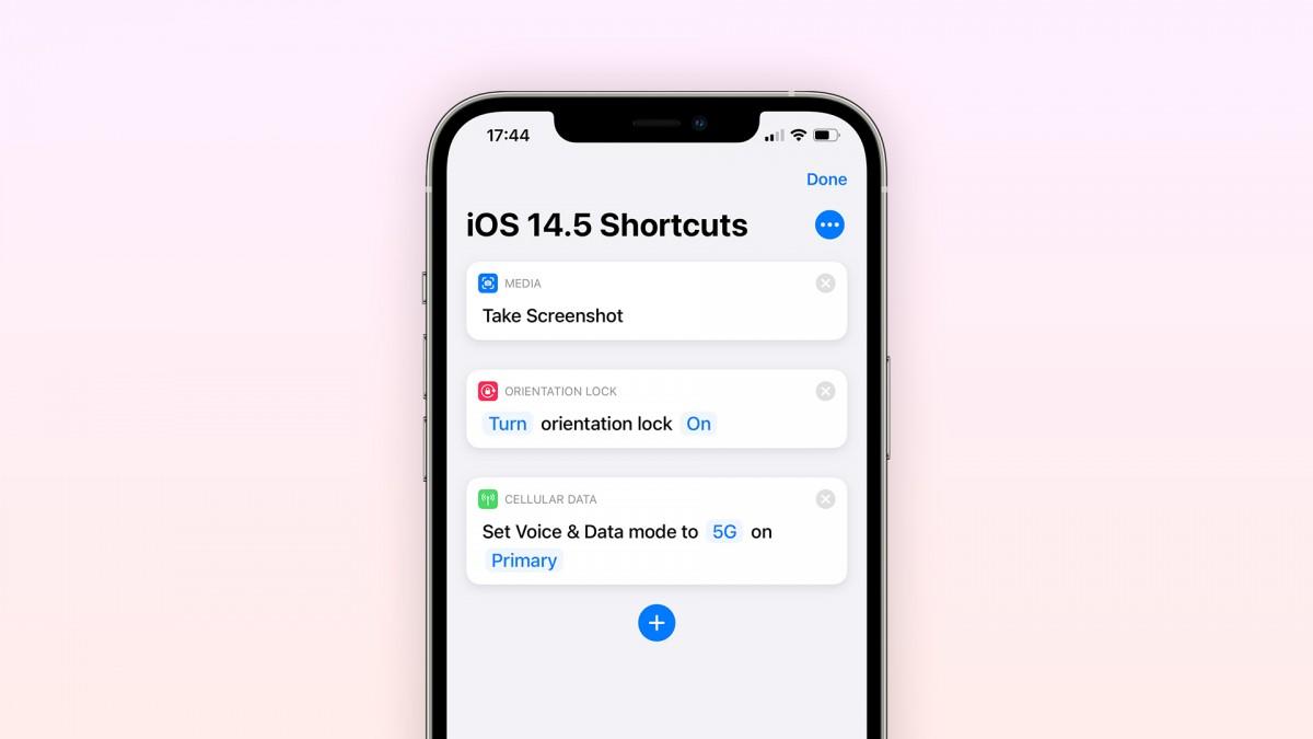 iOS 14.5 Shortcuts