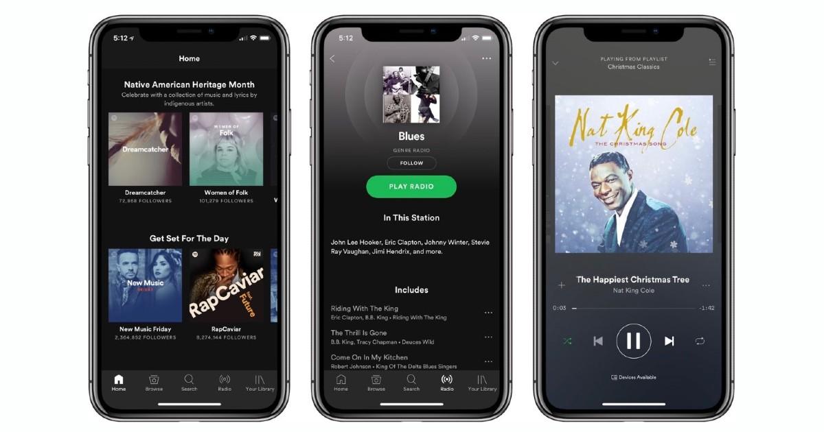 iOS Spotify Header