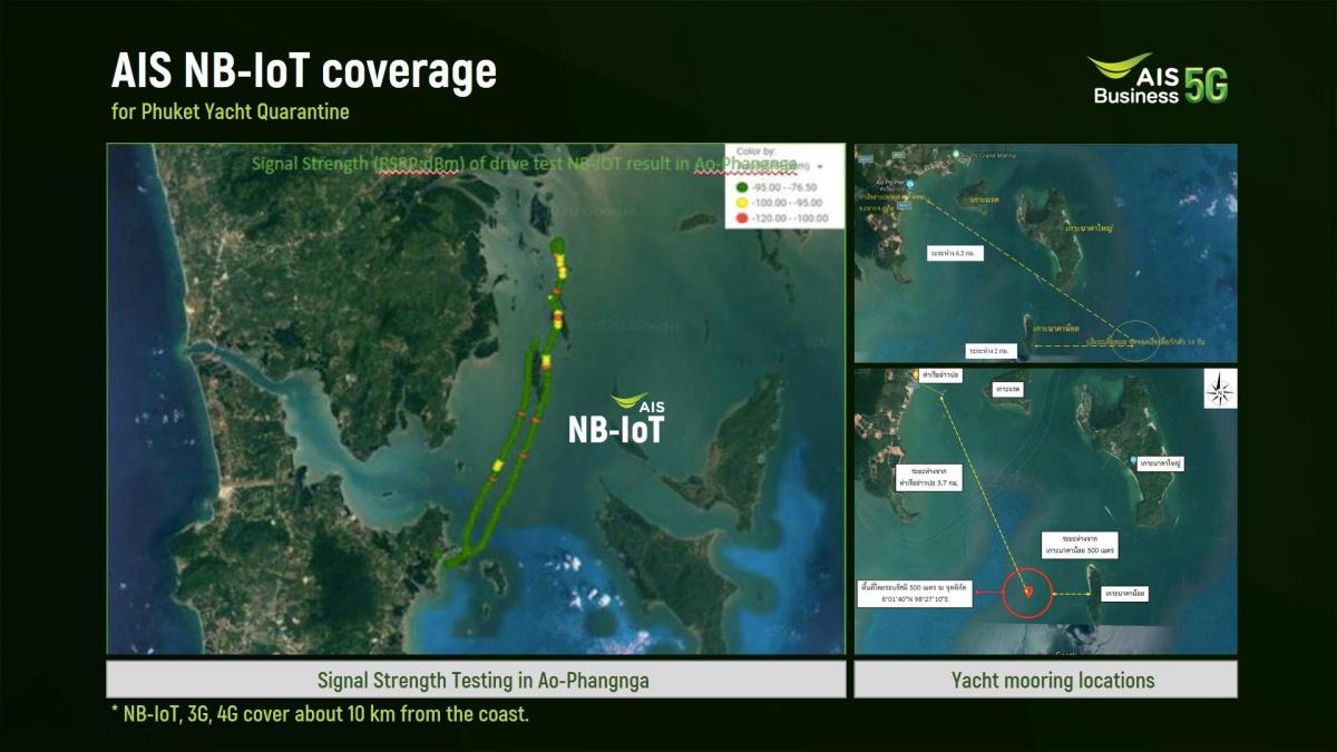 Pic 7 AIS NB-IoT coverage for Phuket Yacht Quarantine
