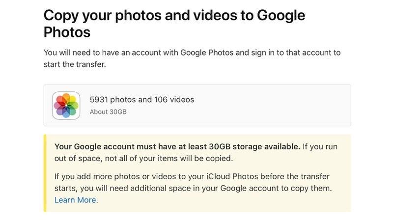 iCloud transfer Google Photos (2)