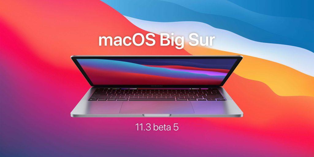 macOS Big Sur 11.3 Beta 5